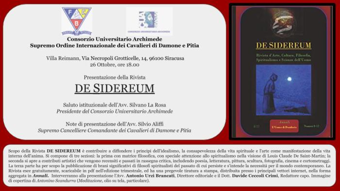 de-sidereum-presentazione-siracusa
